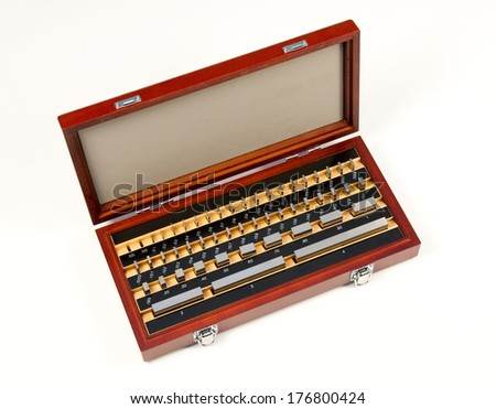 Gauge block set  - stock photo
