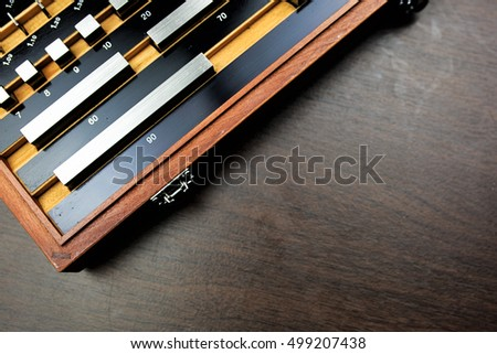 Gauge block set is fundamental for calibration measurement tool in manufacturing in industrial sector