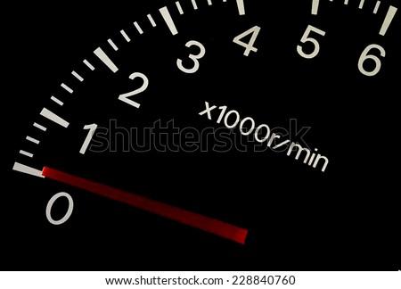 Gauge meter in a car - stock photo