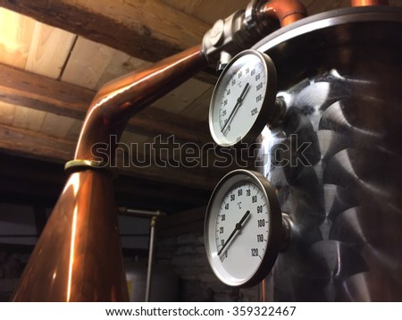 gauge on copper tank