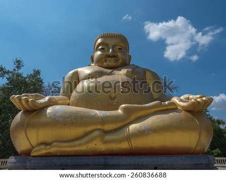 Gautama Buddha or Katyayana or Kasennen in Thailand - stock photo