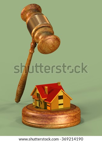 gavel and the house