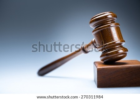 Gavel, auction, lawyer. - stock photo