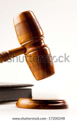 Gavel In Action - stock photo