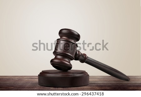 Gavel, Law, Justice. - stock photo