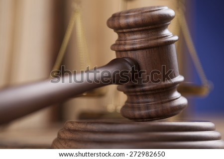 Gavel,Law theme, mallet of judge - stock photo