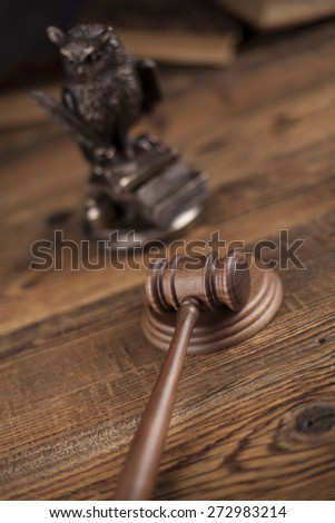 Gavel, Mallet of justice concept - stock photo