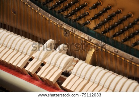 gavel of the string open mechanism - stock photo
