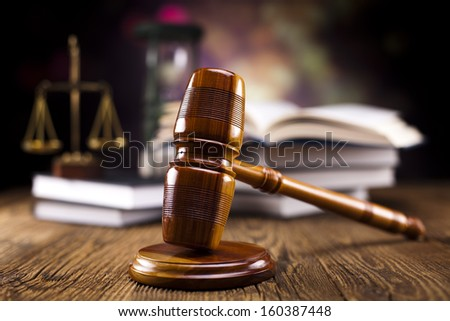 Gavel on books  - stock photo