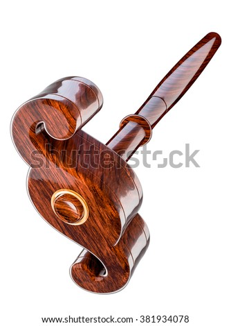 Gavel Paragraph, symbol of constitutional law and justice - stock photo