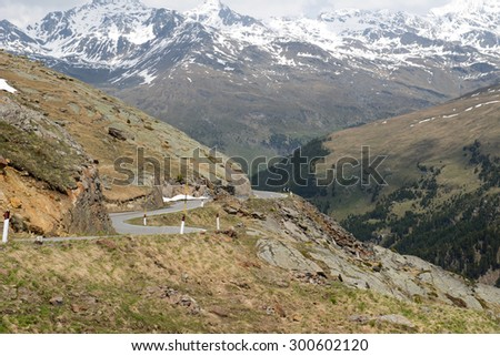 Gavia Pass, Dolomites, Italy - stock photo