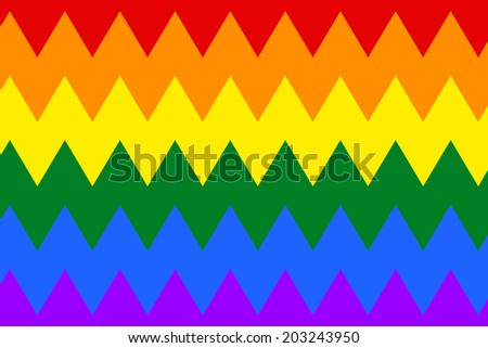 Gay and LGBT flag, culture symbol. Raster.  - stock photo