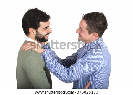 Gay couple in love - stock photo