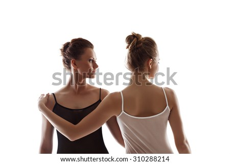 Gay couple looking in one direction. Concept - stock photo
