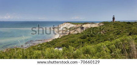 Gay Head light is located in Martha's Vineyard, Massachusets. - stock photo