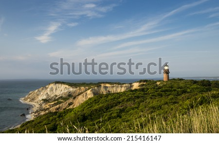 Gay Head Lighthouse and cliffs, Martha's Vineyard