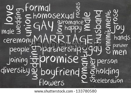 gay marriage on blackboard