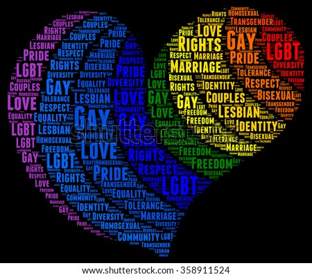 Gay rights concept word cloud - stock photo