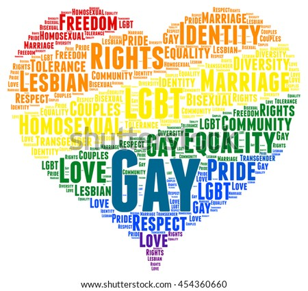 Gay rights word cloud concept - stock photo