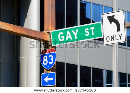Gay Street Only sign - stock photo