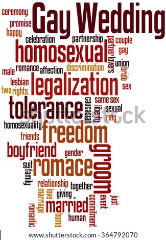 Gay Wedding, word cloud concept on white background. - stock photo