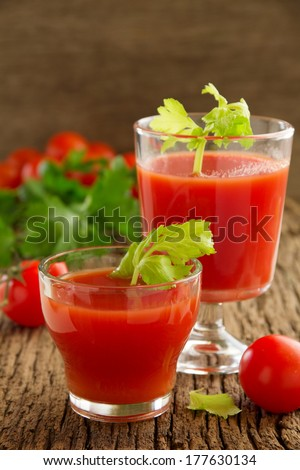 Gazpacho soup of tomatoes.