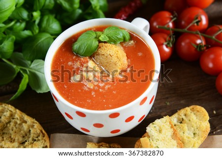 Gazpacho soup - traditional spain soup from andalusia