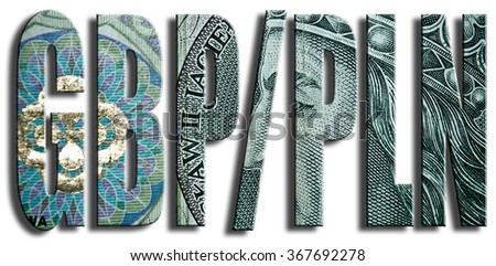 GBP/PLN. British Pound and Polish Zloty currencies exchange. Polish paper money or banknotes texture. - stock photo