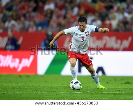 GDANSK, POLAND - JUNE 01, 2015: EURO 2016 European International Friendly Game Poland - Netherland 