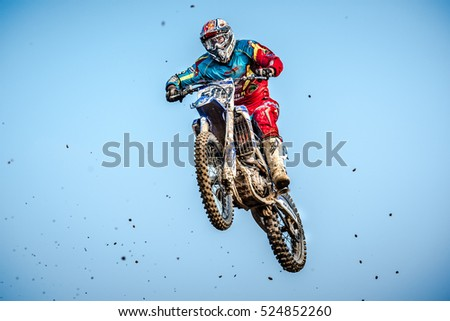 GDANSK, POLAND - SEPTEMBER 10 : riders on Polish Motocross Championship Poland, Gdansk 10 Septemeber 2016
