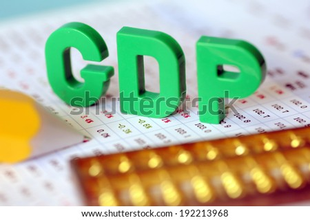 GDP and data report - stock photo