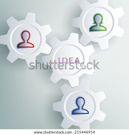 gear featuring people who interact - stock photo
