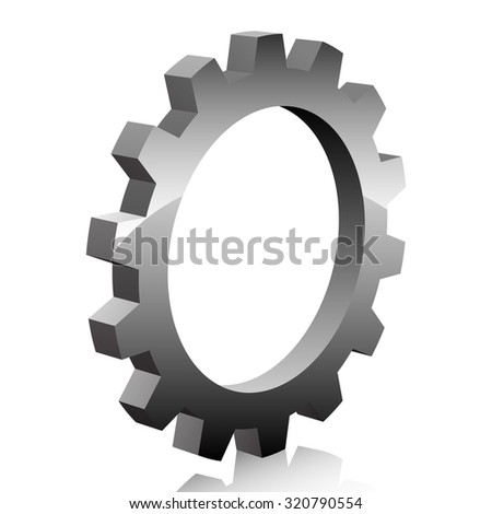 Gear icon - stock photo