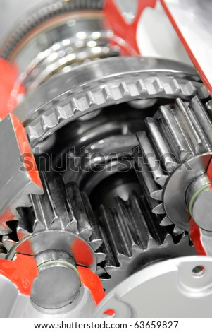 Gear mechanism - stock photo