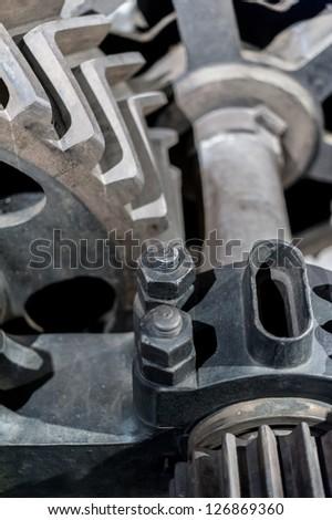 gear mechanisms retro vintage - stock photo