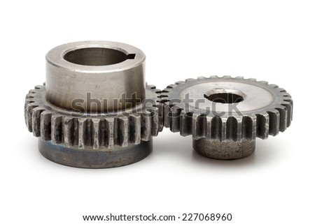 gear on the white background - stock photo