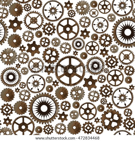 Gear seamless pattern.