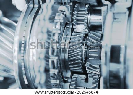 gear set crosssection - stock photo