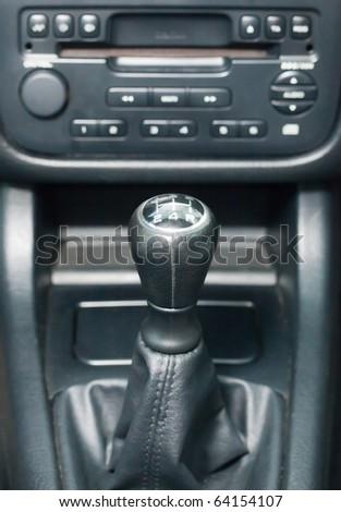 Gear stick - stock photo