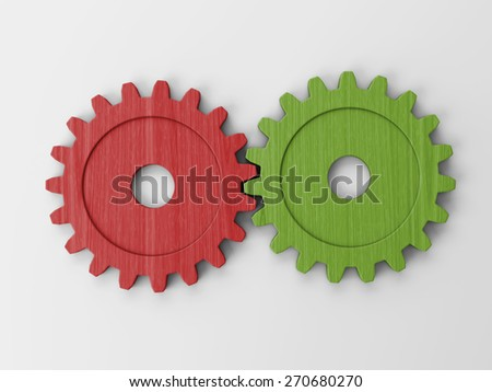 gear to place concepts - stock photo