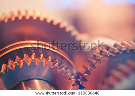 gear wheels close-up - stock photo