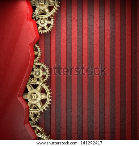 gear wheels on red background