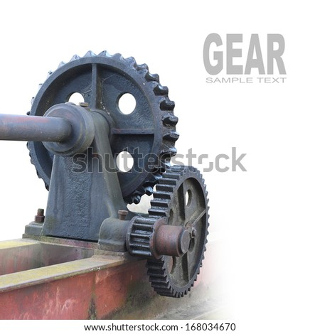 Gear wheels with space for your text.  - stock photo