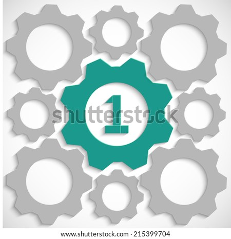 Gear with number one in the mechanism