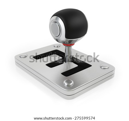 Gearbox isolated on white background. 3d render - stock photo
