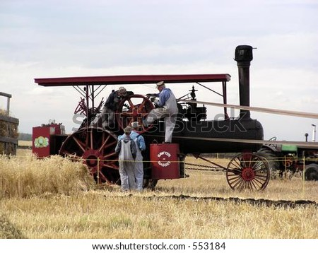 gearing up the steam engine to thresh