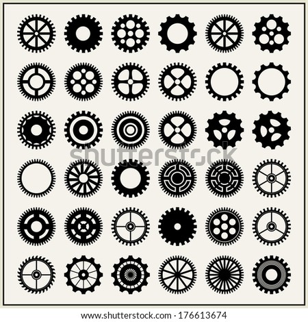 Gears and cogs - stock photo