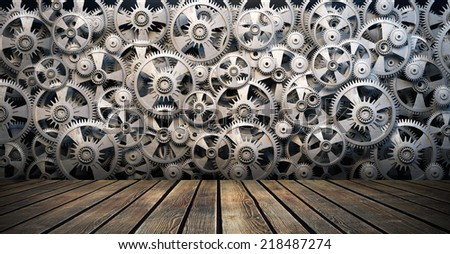 Gears and cogwheels - stock photo