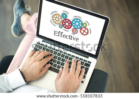 Gears and Effective Mechanism on Laptop Screen