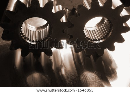 gears, cogs against the light